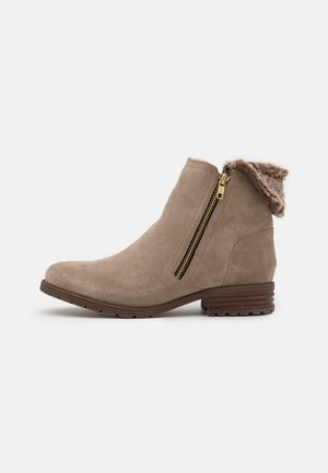 LEATHER - Classic ankle boots - beige