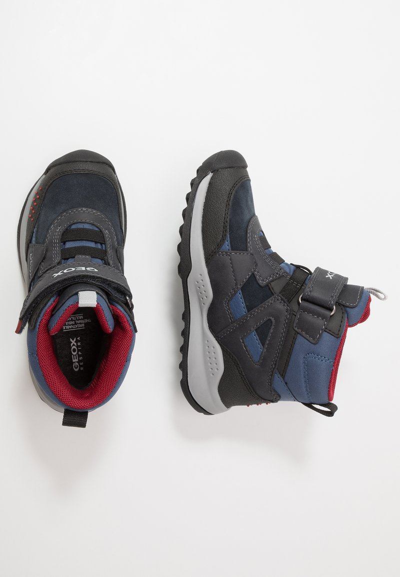 Geox - TERAM BOY ABX - Śniegowce - navy/dark red