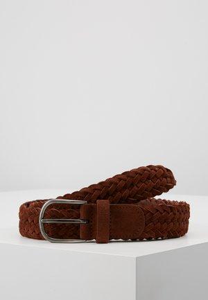 BELT - Pletený pásek - brown