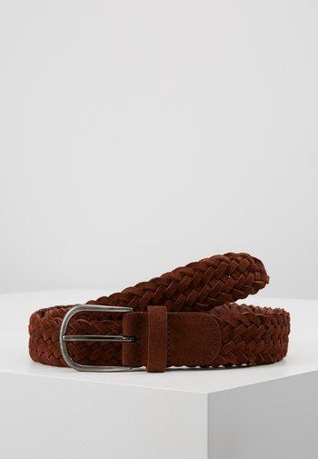 BELT - Braided belt - brown