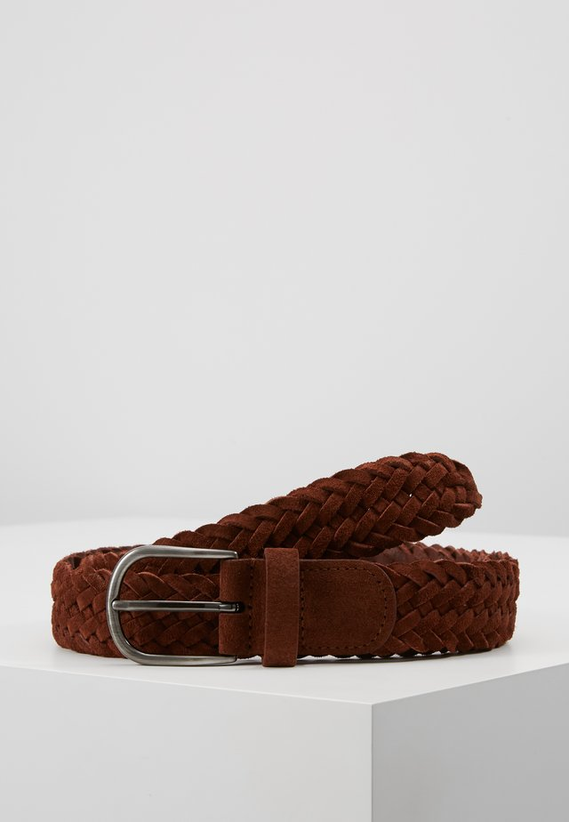 BELT - Palmikkovyö - brown