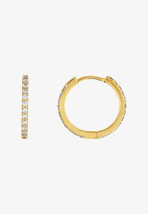 8 KARAT GOLD CREOLE ZIRKONIA - Earrings - gold