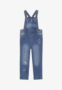 mothercare - DUNGAREE - Hängselbyxor - denim - 4