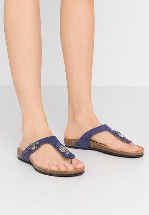BIMINOIS - T-bar sandals - navi