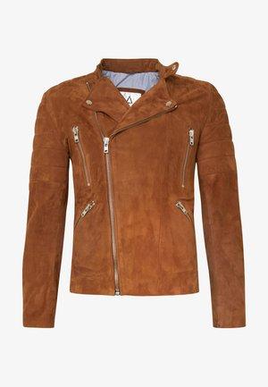 GLADATOR - Leather jacket - cognac