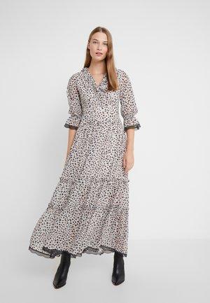 KABINI - Maxi šaty - offwhite/black/flame orange