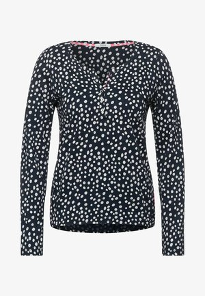 MIT PUNKTEN - Long sleeved top - blau