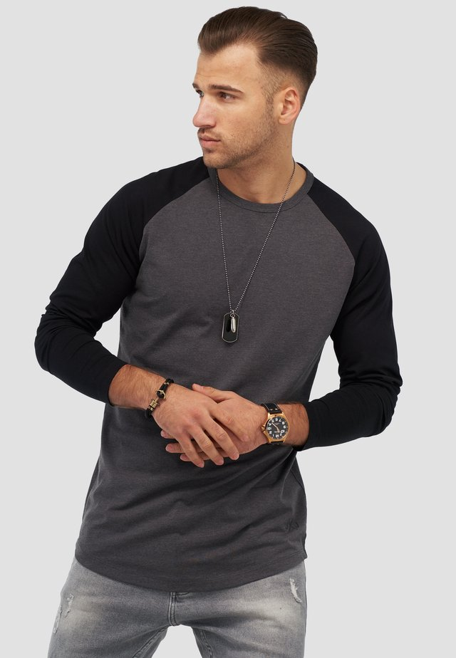 MIT RAGLANÄRMELN  - Long sleeved top - dark grey melange