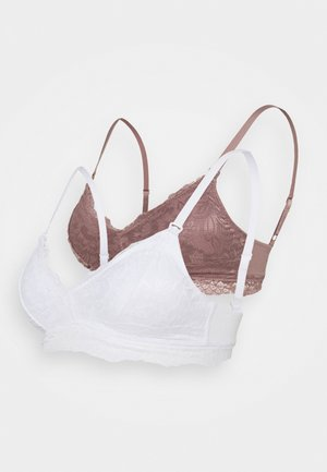 2 PACK - Triangel BH - white/pink