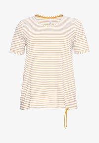 Sheego - Print T-shirt - senfgelb bedruckt - 4