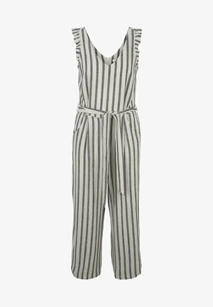Jumpsuit - black beige stripe