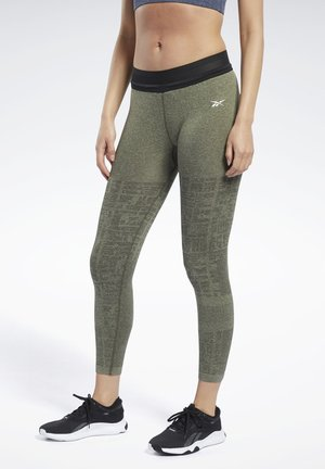UNITED BY FITNESS MYOKNIT SEAMLESS 7/8 LEGGINGS - Collant - green