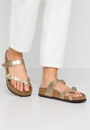 MAYARI - T-bar sandals - gold