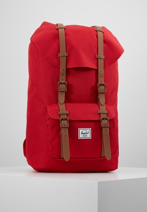 LITTLE AMERICA - Sac à dos - red/saddle brown