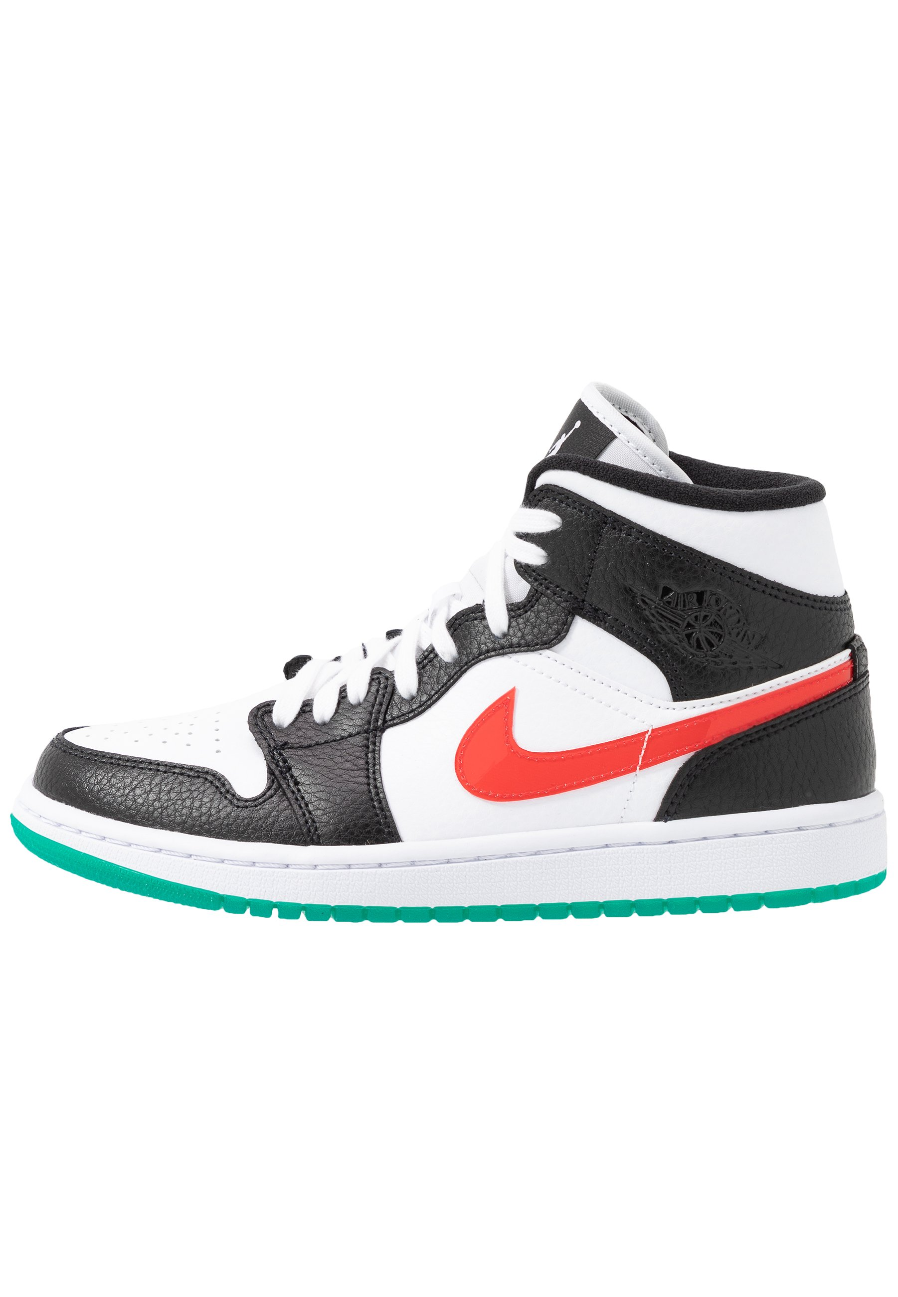 AIR 1 MID - High-top trainers - black/university red/white/lucid  green/university gold