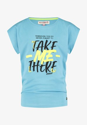 Print T-shirt - dusty light blue