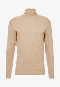 Selected Homme - SLHTOWER ROLL NECK  - Stickad tröja - tuffet/melange - 3