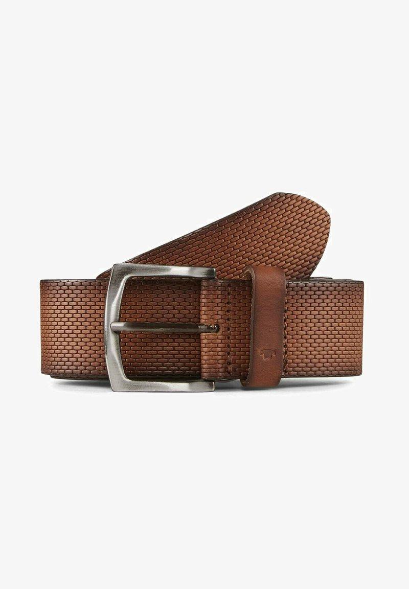 TOM TAILOR - MIT PRÄGUNG - Belt - light brown uni