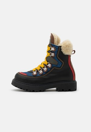 UNISEX - Lace-up ankle boots - black/blue