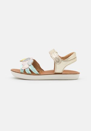 GOA TOUCAN - Sandals - platine/camel/lagon