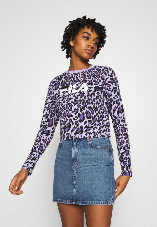 MARCELINE LONG SLEEVED CROPPED - T-shirt à manches longues - lilac