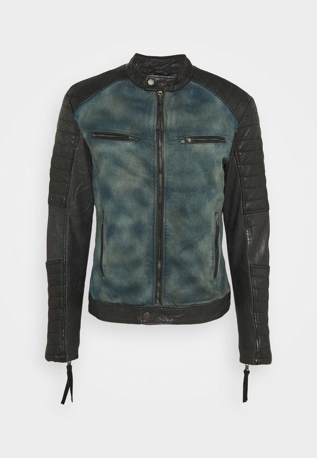 ANDY  - Leather jacket - indigo