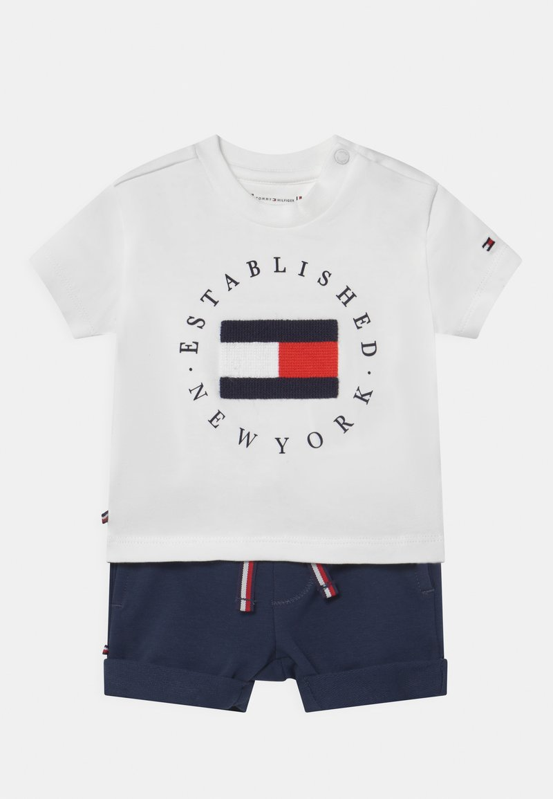 Tommy Hilfiger - BABY ESTABLISHED SET UNISEX - Print T-shirt - white