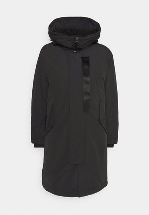 HOODED PADDED FISHTAIL  - Parka - black