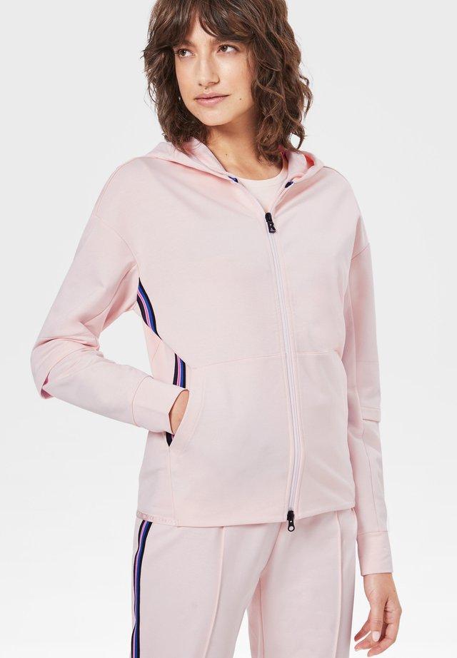 ERLA - veste en sweat zippée - hellrosa
