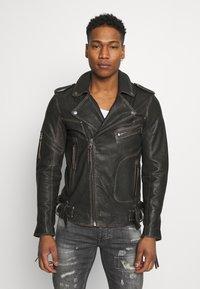 Tigha - NEVAN - Leather jacket - vintage black - 0
