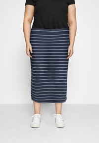 Tommy Jeans Curve - BODYCON STRIPES SKIRT - Pencil skirt - twilight navy/multi - 0