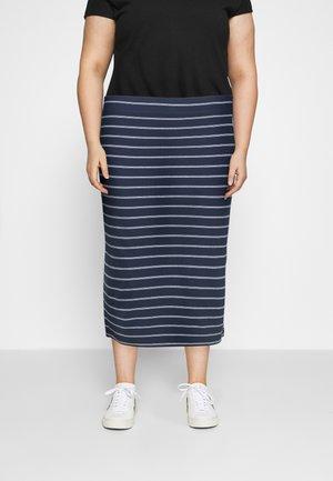 BODYCON STRIPES SKIRT - Pencil skirt - twilight navy/multi