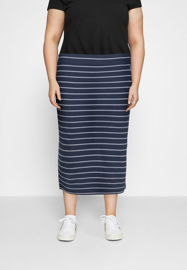 BODYCON STRIPES SKIRT - Pouzdrová sukně - twilight navy/multi