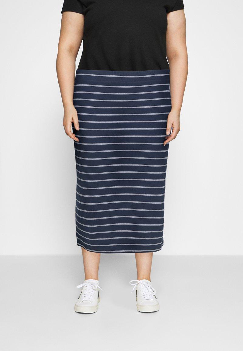 Tommy Jeans Curve - BODYCON STRIPES SKIRT - Pencil skirt - twilight navy/multi