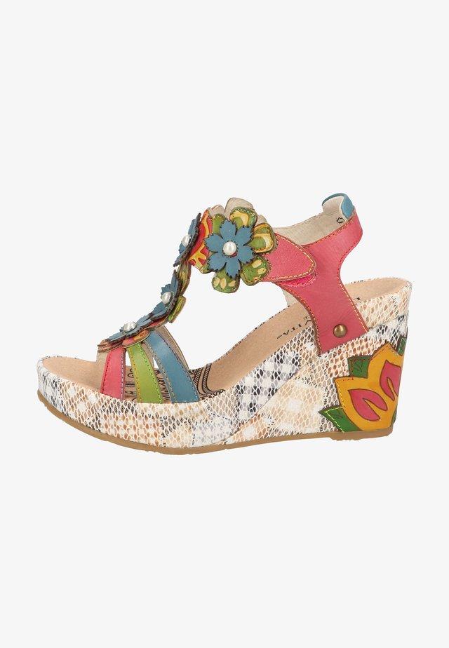 Sandalen met hoge hak - fushia