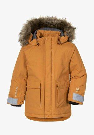 KURE  PARKA - Faux leather jacket - orange