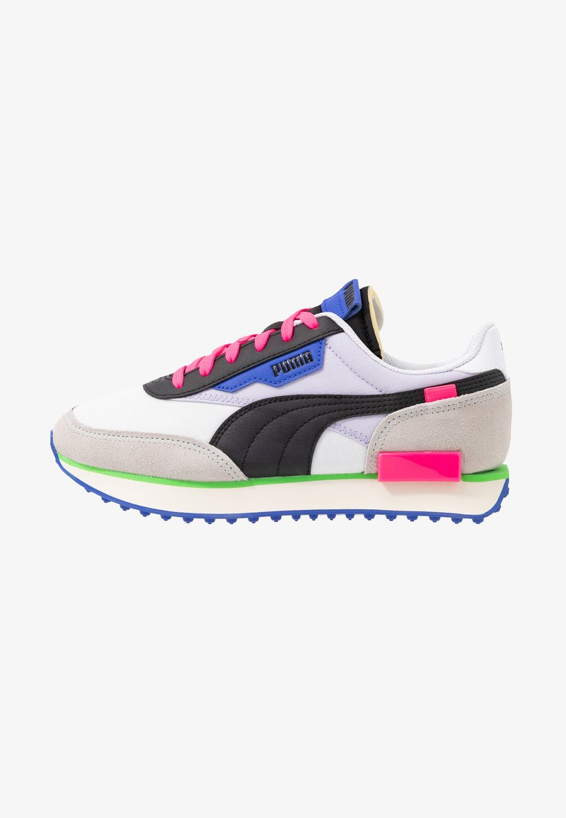 Puma - FUTURE RIDER PLAY ON UNISEX - Sneakers basse - white/gray violet/black
