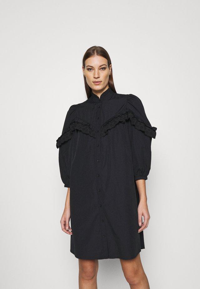 UMBRIA - Abito a camicia - black