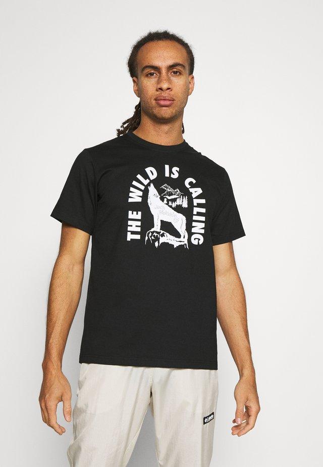 WILD CALLING - Print T-shirt - black/white