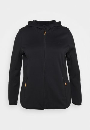 ONPJETTA HOOD CURVY - Fleece jacket - black