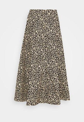 QUICKSTEP MIDI SKIRT - A-line skirt - brown