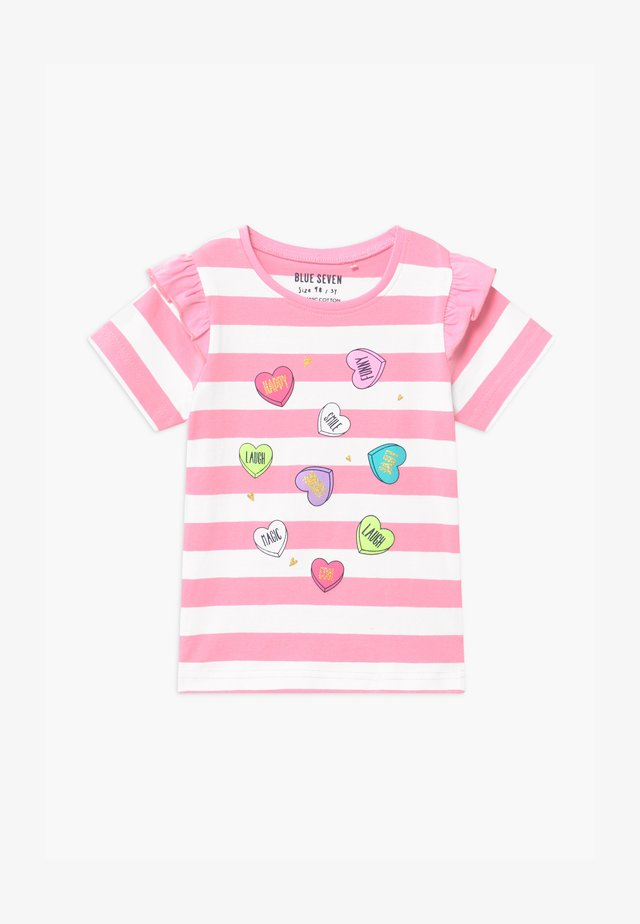 SMALL GIRLS STRIPE HEART - T-shirt med print - azalee