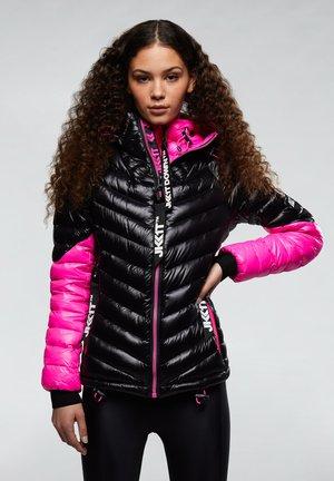 RISING RACER - Doudoune - black/flame pink