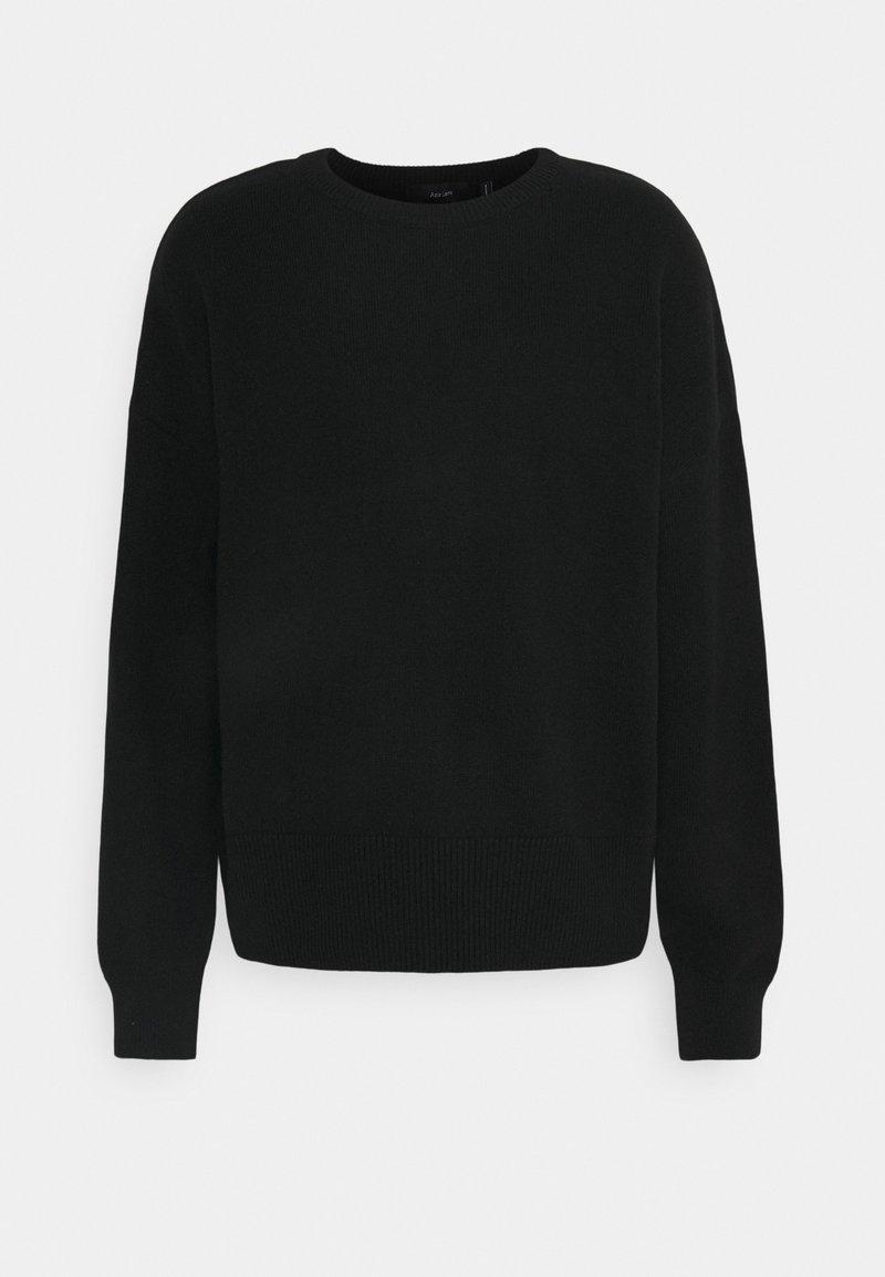 NU-IN - NU-IN X AZIZ LEM OVERSIZED BACKLOOP - Stickad tröja - black