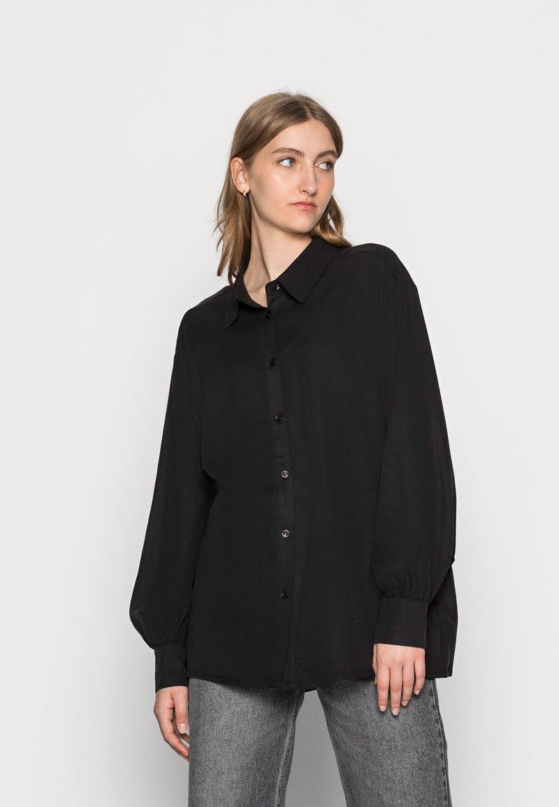 Lounge Nine - BOP - Button-down blouse - pitch black