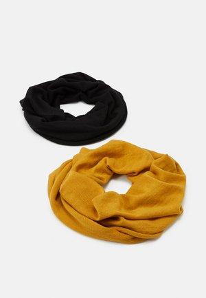 2 PACK - Écharpe tube - mustard yellow/black