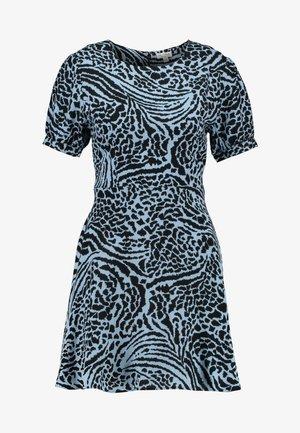 ANIMAL PRINT TEA DRESS - Denní šaty - blue