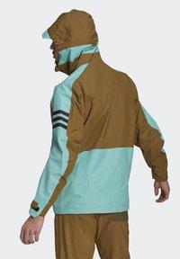 adidas Performance - XPLORIC RAIN JACKET - Hardshell jacket - wild moss/acid mint - 2