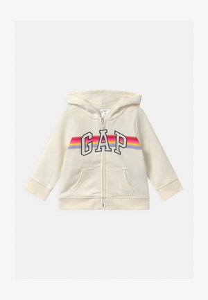 TODDLER GIRL LOGO - veste en sweat zippée - dream milk