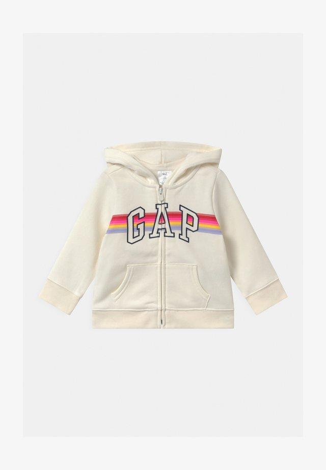TODDLER GIRL LOGO - Zip-up hoodie - dream milk